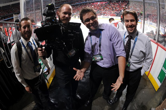 The KingsVision crew at the Stanley Cup Final