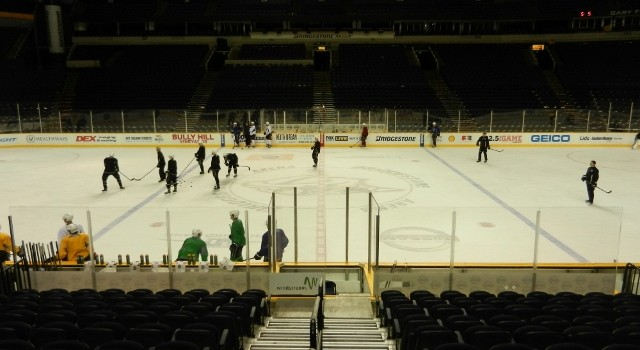 Practice at Bridgestone Arena