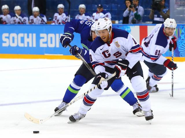 Ice Hockey - Winter Olympics Day 9 - Slovenia v United States