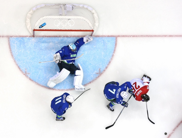 Ice Hockey - Winter Olympics Day 11 - Austria v Slovenia