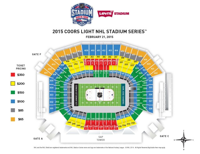 Stadium Series - Levi's Stadium - FINAL SEATING MAP