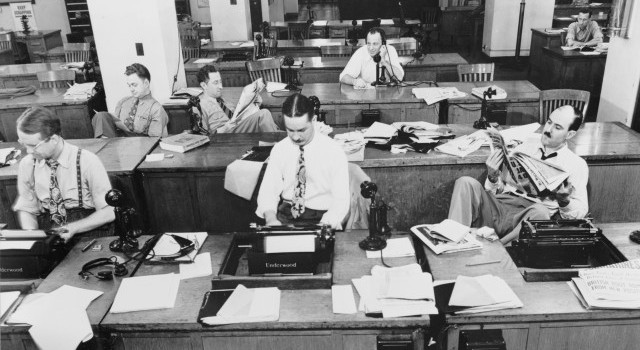 Wikipedia / 1942 New York Times newsroom