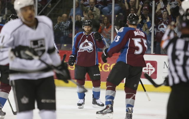 Colorado Springs, CO - OCTOBER 2: Colorado Avalanche vs the Los Angeles Kings in a preseason game at the World Arena on October 2, 2014. (Photo by Michael Martin/NHLI via Getty Images)