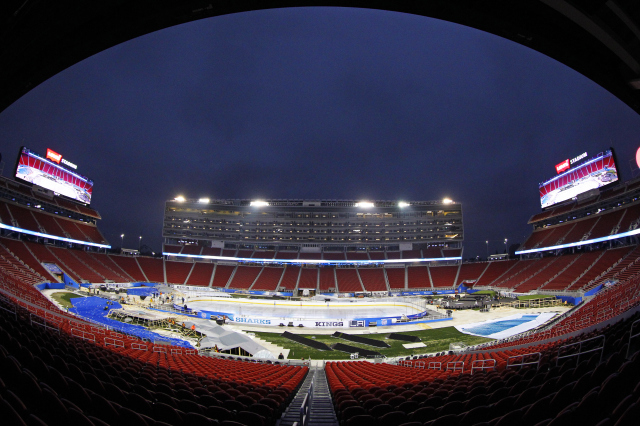 2015 Coors Light NHL Stadium Series - Rink Build Out