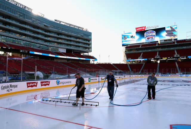 2015 Coors Light Stadium Series - Rink Build Out