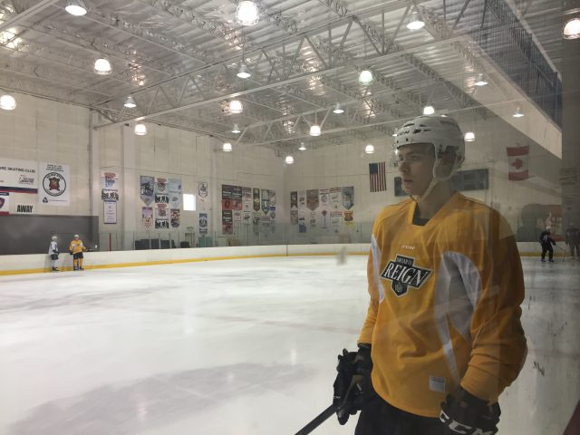 Adrian Kempe returns to practice