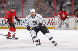 OTTAWA, ON - NOVEMBER 11: Playing in his 300th career NHL game Dwight King #74 of the Los Angeles Kings skates against the Ottawa Senators at Canadian Tire Centre on November 11, 2016 in Ottawa, Ontario, Canada.  (Photo by Andre Ringuette/NHLI via Getty Images)