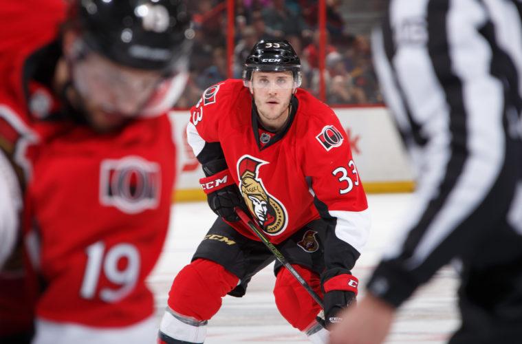 OTTAWA, ON - NOVEMBER 11: Fredrik Claesson #33 of the Ottawa Senators skates against the Los Angeles Kings at Canadian Tire Centre on November 11, 2016 in Ottawa, Ontario, Canada.  (Photo by Andre Ringuette/NHLI via Getty Images)