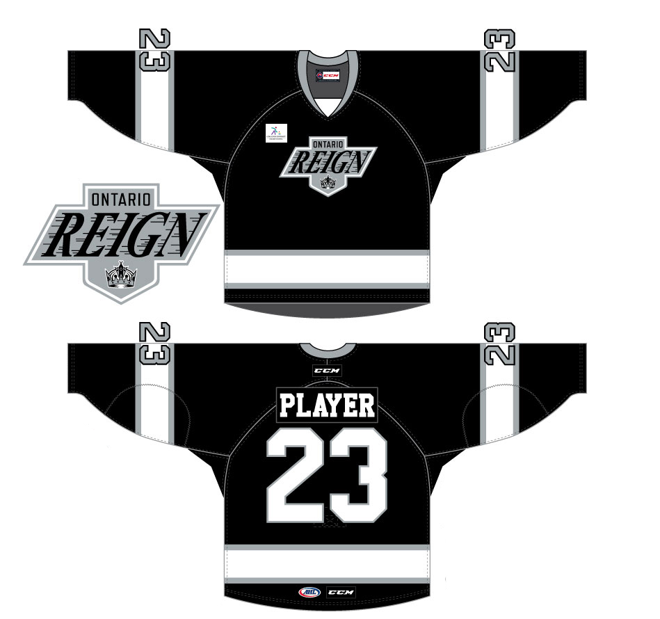 detailed look f1ac9 3b0c3 Reign's outdoor jerseys feature Kings throwback theme - LA ...