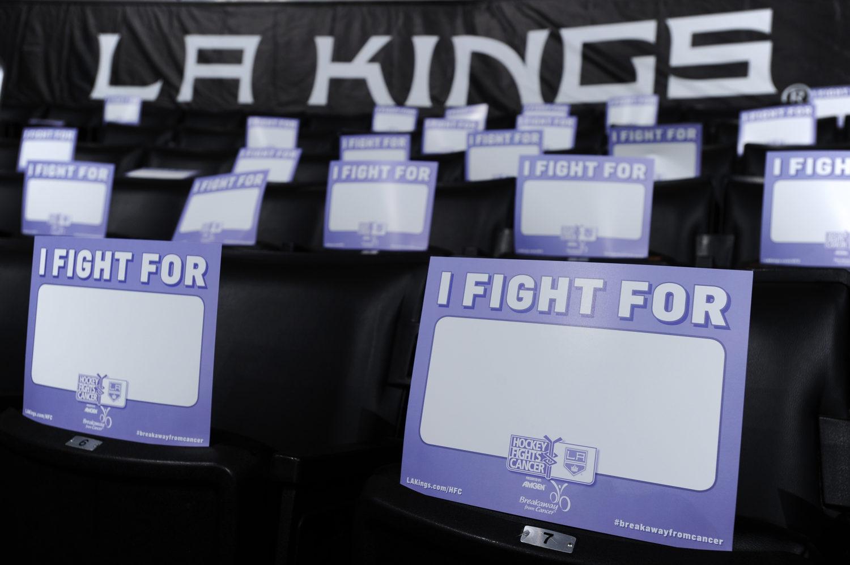 Hockey Fights Cancer Night details  food drives begin Tuesday - LA ... 2dc2d5eba